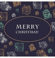 Christmas sketch with gift vector image