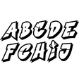 graffiti font alphabet part 1 vector image