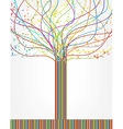 Abstract colorful tree from lines vector image vector image