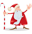 santa claus with cane cartoon vector image