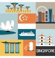 Symbols of Singapore vector image