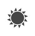 Sun icon Light sunbeams Gray design sign vector image