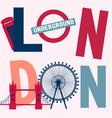 London vintage poster vector image