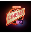 Neon sign Cinema vector image