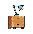 office table lamp bulb light furniture icon vector image