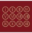 Set Roman numerals 1-12 icon vector image