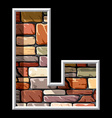 stone letter L vs vector image