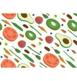 Superfood Vegan Eco Organic Raw Vegetables and vector image