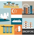Symbols of Singapore vector image