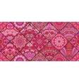 Pink Tiles Boho Pattern vector image