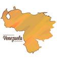 isolated venezuelan map vector image