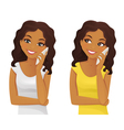 Black woman phone talking vector image vector image