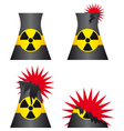 nuclear power plant meltdown vector image