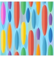 Flat style surfing boards seamless pattern vector image vector image