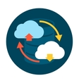 Cloud Upload and Download Icon vector image vector image