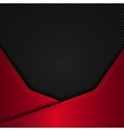 Black and red metal background design vector image