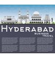 Hyderabad Skyline with Gray Landmarks vector image