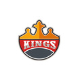 King Crown Kings Retro vector image vector image