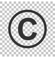 Copyright sign  Dark gray icon on vector image