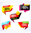 sale banner collection colored stickers and vector image