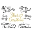 Set of Merry Christmas handmade lettering vector image