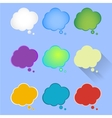 Set of multicolor of thought vector image