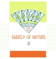 Template logo The energy of nature The vector image