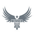 winner wing logo simple gray style vector image
