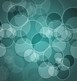 Abstract green background with circles vector image