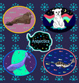 antarctic set vector image