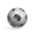 Black and white soccer ball vector image