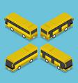 flat 3d isometric public transport bus service vector image