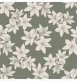 Leaf background Floral seamless texture with lily vector image