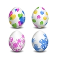 Set of Isolated Easter eggs Watercolor paints vector image