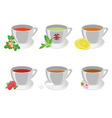 tea cups vector image