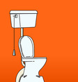 toilet bowl vector image