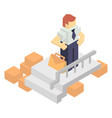 warehouse manager with delivery boxes vector image