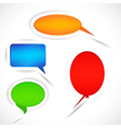 Set of sticker bubbles for speech vector image vector image
