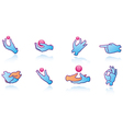 Hands Web Icons vector image