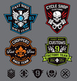 motorcycle patches vector image