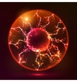 Red fire plasma ball vector image
