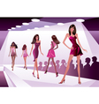 Fashion models represent new clothes vector image vector image