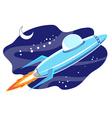 jet space in sky vector image