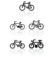bike symbol set vector image
