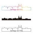 Santiago de Chile skyline linear style with vector image vector image