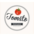 Tomato juice Detailed label vector image