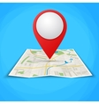 Folded maps with color point markers vector image