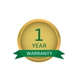 One year warranty label vector image