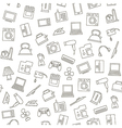Electronics pattern black icons vector image vector image