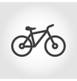 black silhouette bicycle icon vector image
